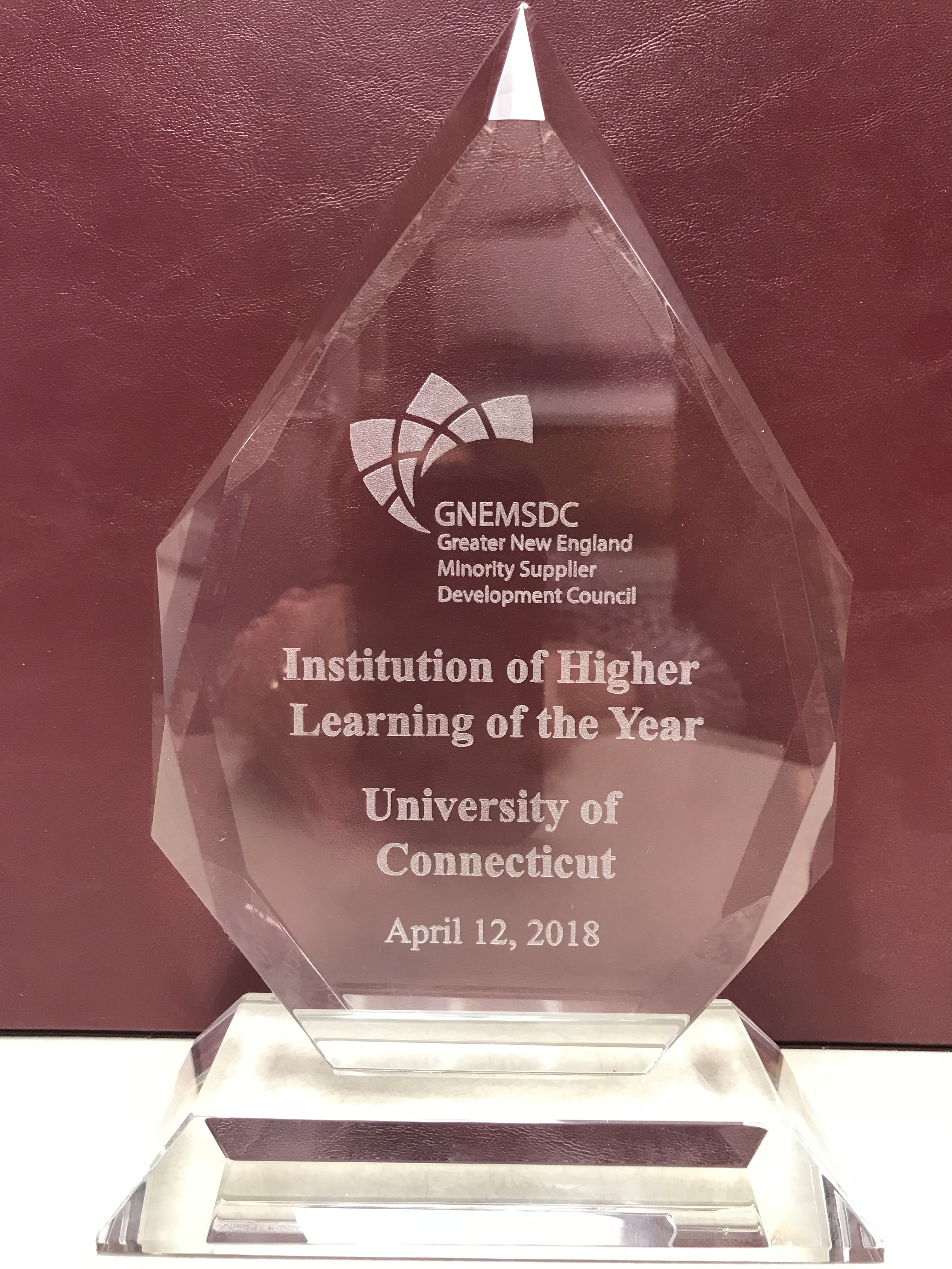 GNEMSDC 2018 Institution of Higher Learning of the Year Award
